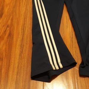 adidas Pants - Navy blue Adidas track pants w/white stripes